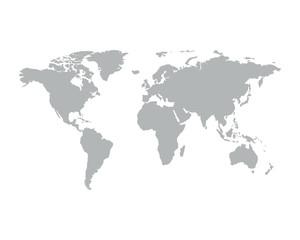 Wall Mural - Gray similar world map.
