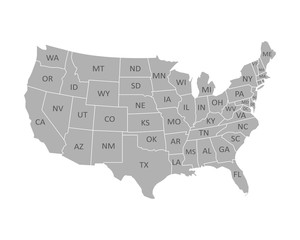 High quality United States map of America