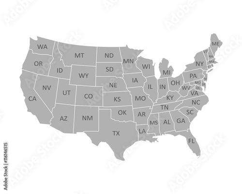 Wall mural High quality United States map of America