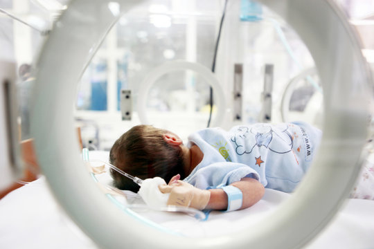 Newborn baby in hospital.