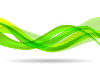 abstract wave background green Wall mural