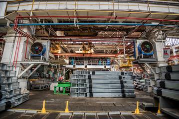 Interior of industrial plant workshop