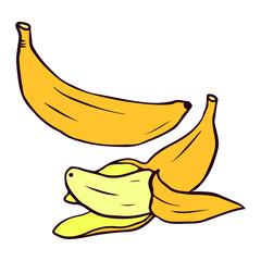 Banana illustration isolated on white