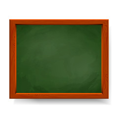 Green vector blackboard isolated on white