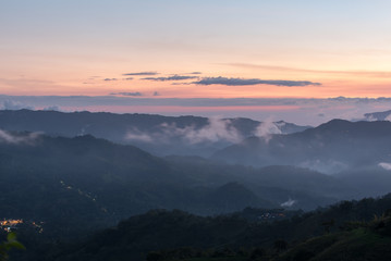 Moody sunset in the Costa Rican highlands