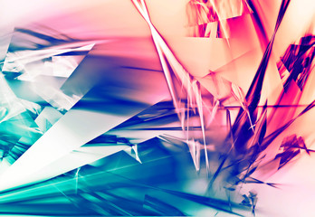 Image Of Beautiful Abstract Broken Glass Design Background