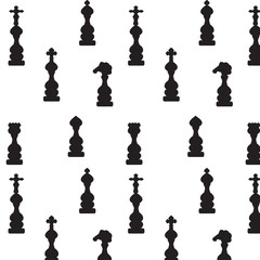 chess pieces black white abstract pattern background vector