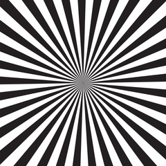 black and white background rays sunburst sunrise modern abstract creative graphic vector illustration