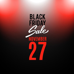 Black Friday advertising banner, vector illustration