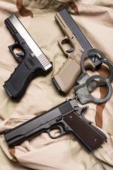 Pile of handguns