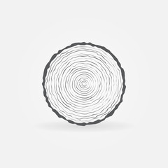 Cut tree trunk icon