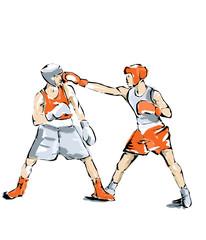 illustrazione di boxe, uomo che pratica sport