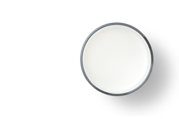 Glass of milk, Top view