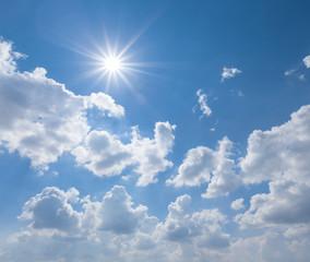 hot summer sunny sky background