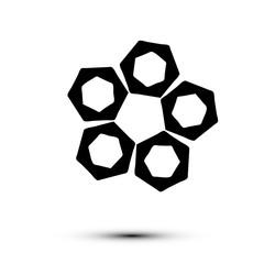 Black logo on white background in vector EPS