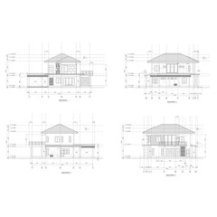 elevation home drawing