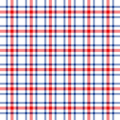 Blue, red and white plaid background