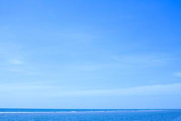 Foto op Plexiglas Hemel Seascape. Blue sky with Calm sea.