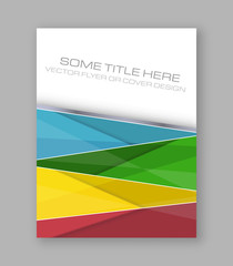 Abstract vector colorful flyer design template, brochure or corporate banner.