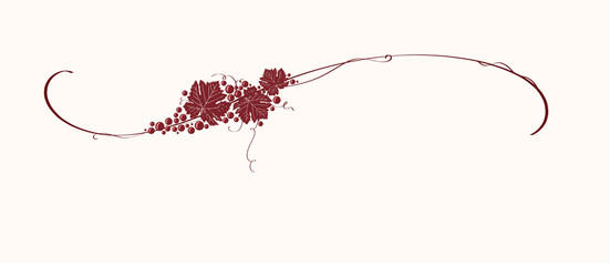 Vintage winery design element. Can be used in menu (restaurant, cafe, bar etc) or other. Includes grapes, leaves, swirls, ornaments, branches.
