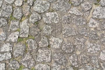 Gray old stone pavement pattern