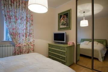 Interior of cozy bedroom