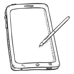 Vector Single Sketch Tablet PC with Stilus Pen