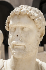 Roman bust of Hadrian with no nose