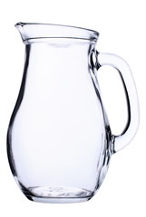 empty carafe on the isolated white background