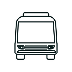 bus icon over white background isolated  design, vector illustration  graphic