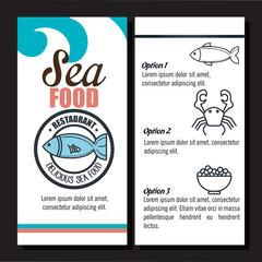 delicious sea food isolated icon design, vector illustration  graphic