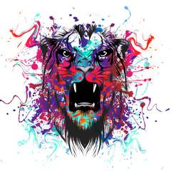 тигр в красках