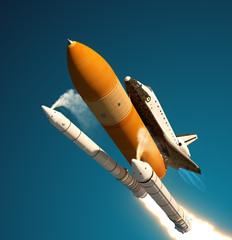 Fototapete - Space Shuttle Solid Rocket Boosters Separation