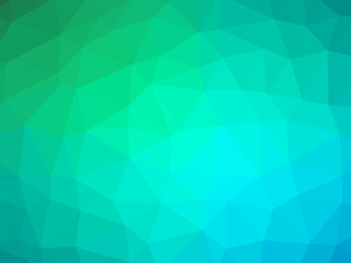 Green teal white gradient polygon shaped background