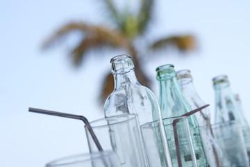 verre soda cocktail frais boire limonade paille bar se rafraichir