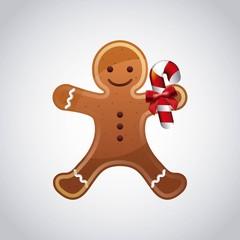 cookie cartoon icon. Merry Christmas design. Vector graphic