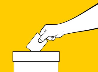 Illustration of a hand voting