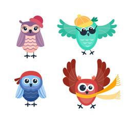 Poster Uilen cartoon Cartoon owl vector isolated