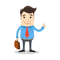 smile businessman with briefcase