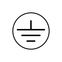 Electrical grounding icon
