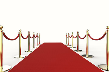 red carpet with rope barrier