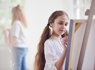 young artist painting