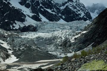 landscape photo of the glacier in the mountains of Georgia, Mestia