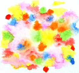 Abstract watercolor colorful background