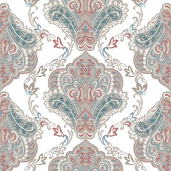 Vintage oriental ornament pattern. Decorative ornament backdrop for fabric, textile, wrapping paper, card, invitation, wallpaper