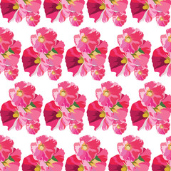 Watercolor flowers pattern background Vector.  Watercolor floral illustration