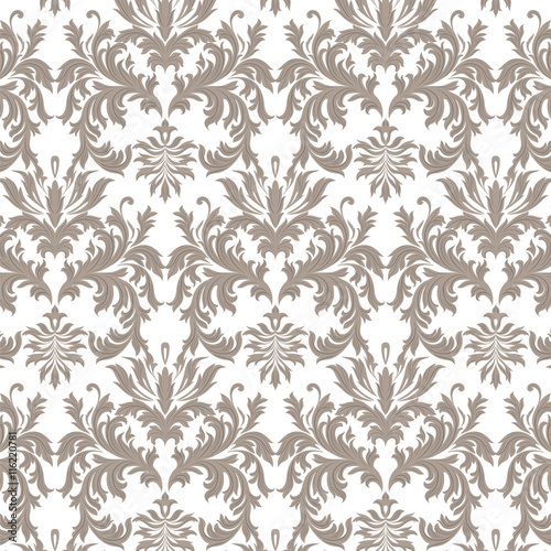 Quot Vector Baroque Vintage Floral Damask Pattern Luxury