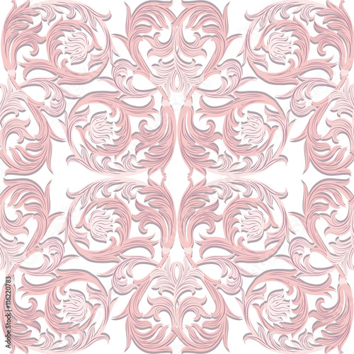 "Fotolip Com Rich Image And Wallpaper: ""Vintage Vector Baroque Luxury Ornament Pattern. Damask"