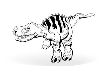 Dinosaur Vector Sketch