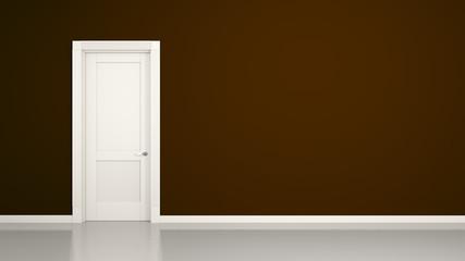 brown wall and door background